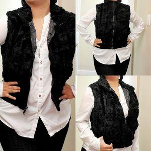 Black FUR Vest jacket